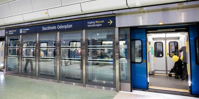 Plattformsdörrar vid Odenplans pendeltågsstation Christine Olsson/TT / TT NYHETSBYRÅN