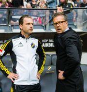 Rikard Norling och Bartosz Grzelak under en match i Allsvenskan 2017. JOHANNA LUNDBERG / BILDBYR N