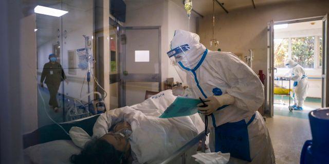 Sjukhus i Wuhan.  TT NYHETSBYRÅN