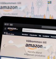 Amazons hemsida låg nere. Amir Nabizadeh/TT / TT NYHETSBYRÅN