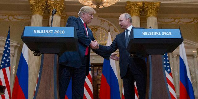 Trump och Putin träffades i Helsingfors i somras. Pablo Martinez Monsivais / TT NYHETSBYRÅN/ NTB Scanpix