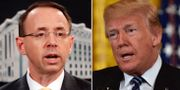 Rod Rosenstein/Donald Trump. TT