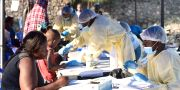 Sjukvårdspersonal i Goma i Kongo-Kinshasa. OLIVIA ACLAND / TT NYHETSBYRÅN