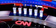 Bild från nattens debatt. Patrick Semansky / TT NYHETSBYRÅN