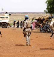 Fredsbevarande styrkor från FN i Mali. Arkivbild. SOULEYMANE AG ANARA / AFP