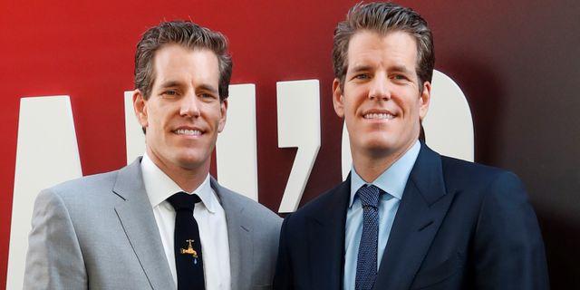 Tvillingarna Cameron och Tyler Winklevoss är utanför kryptovärlden mest kända för att ha anklagat Mark Zuckerberg för att ha stulit idén till Facebook från dem.  Mike Segar / TT NYHETSBYRÅN