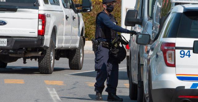 Insatsen genomfördes av kandensisk polis. Ryan Remiorz / TT NYHETSBYRÅN