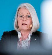 Pia Lundbom, hälso- och sjukvårdsdirektör.  Johan Nilsson/TT / TT NYHETSBYRÅN