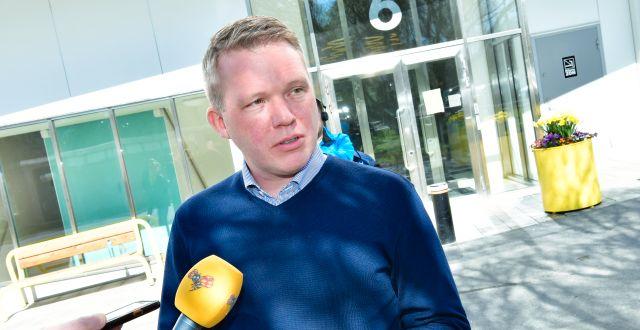Anders Larsson, ordförande för svenska ishockeyförbundet Jonas Ekströmer/TT / TT NYHETSBYRÅN