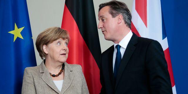 Angela Merkel och David Cameron. Markus Schreiber / TT / NTB Scanpix