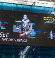 Publicity for CGTN. Shutterstock.