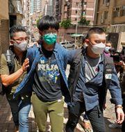 En student som greps på onsdagen i Hongkong Vincent Yu / TT NYHETSBYRÅN