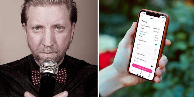 """""""Det är otroligt enkelt och smidigt att kunna fakturera och få betalt på språng,"""" säger Daniel Fridström som har nya kunder varje vecka.  Privat"""