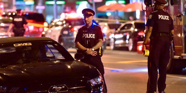 Polisen i Toronto. Frank Gunn / TT / NTB Scanpix