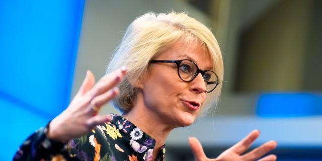 Moderaternas Elisabeth Svantesson är en av de politiker som kritiserats för sin ersättning för dubbla boenden.  Hanna Franzén/TT / TT NYHETSBYRÅN