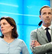 Karin Enström (M) och Allan Widman (L). Naina Helèn Jåma/TT / TT NYHETSBYRÅN
