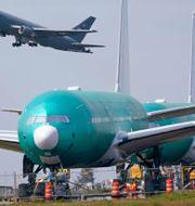 Boeing 777X på marken. Elaine Thompson / TT NYHETSBYRÅN