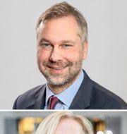 Mikael Angberg, kapitalförvaltningschef Första AP-fonden, och Länsförsäkringars chefsekonom Alexandra Stråberg.