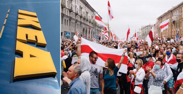 Fredlig demonstration i Minsk förra sommaren.  Shutterstock.