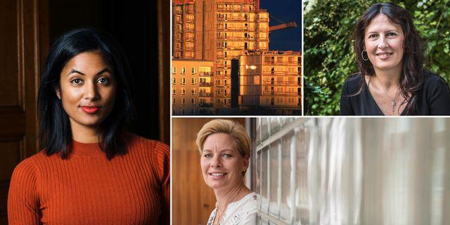 Amanda Lundeteg, vd för Allbright, Biljana Pehrsson, vd för Kungsleden, och Annica Ånäs, vd för Atrium Ljungberg.
