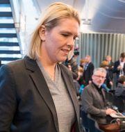 Sylvi Listhaug på presskonferensen där hon meddelar att hon avgår. Larsen, Håkon Mosvold / TT NYHETSBYRÅN