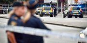 Polis på Drottninggatan där skjutningen skedde Johan Nilsson/TT / TT NYHETSBYRÅN
