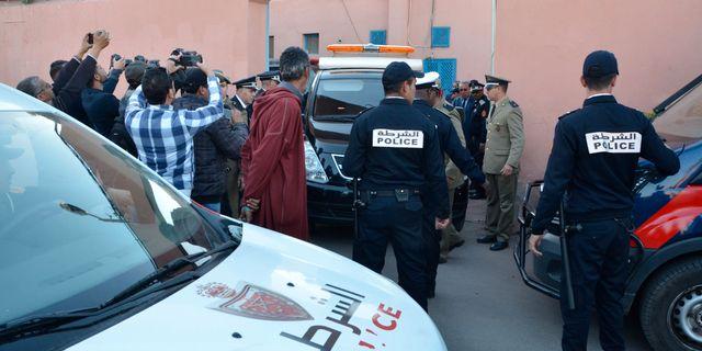 Marockanska polisen efter dubbelmordet. - / AFP
