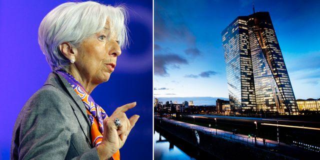 Tillträdande ECB-chefen Lagarde, ECB:s högkvarter i Frankfurt. Arkivbilder. TT