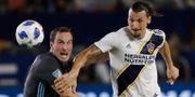 Zlatan under en match med LA Galaxy.  Marcio Jose Sanchez / TT NYHETSBYRÅN