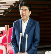 Shinzo Abe meddelar sin avgång. TT NYHETSBYRÅN