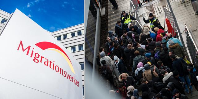 Illustrationsbild. Bilden till höger är från 2015, då många flyktingar kom till Sverige.  TT
