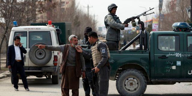 Afghanska säkerhetsstyrkor. Rahmat Gul / TT NYHETSBYRÅN