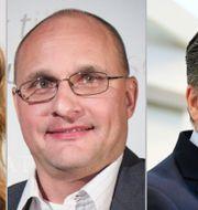 SVT:s Johanna Cervenka, SvD:s Torbjörn ISacson och SEB:s Johan Torgeby Pressbild, TT och Fredrik Sandberg/TT