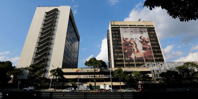 PDVSA:s högkvarter.  Fernando Llano / TT NYHETSBYRÅN/ NTB Scanpix