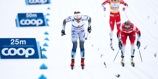 Stina Nilsson gick om Johaug. CH. KELEMEN / BILDBYRÅN