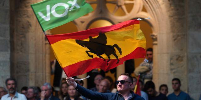 En anhängare till Vox. CESAR MANSO / AFP