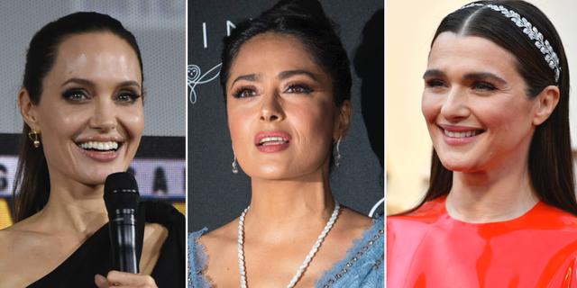 Angelina Jolie, Salma Hayek och Rachel Weisz. TT