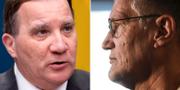 Statsminister Stefan Löfven och Folkhälsomyndighetens statsepidemiolog Anders Tegnell – vem är egentligen ansvarig? Bildbyrån/TT