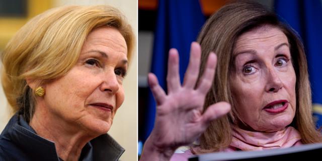 Deborah Birx och Nancy Pelosi. TT