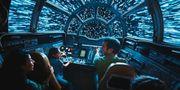 Den interaktiva upplevelsen Smugglers Run blir en av många attraktioner på nya nöjesparken Star Wars: Galaxy's Edge, som slår upp i Kalifornien i sommar och Florida i höst. Disney/Lucasfilm