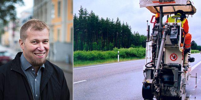 Olle Lundin till vänster  Uppsala Universitet/Trafikverket