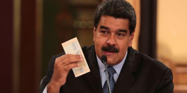 Venezuelas president Nicolás Maduro presenterade valutaåtgärden på fredagen.  HANDOUT / TT NYHETSBYRÅN