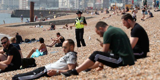 Strand i Brighton, Storbritannien. Gareth Fuller / TT NYHETSBYRÅN