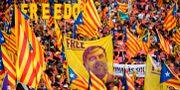 September 2018. Protester till stöd för den huvudåtalade Oriol Junqueras. LLUIS GENE / AFP