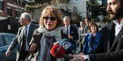 Agnes Callamard utanför det saudiska konsulatet i Istanbul Cemal Yurttas / TT NYHETSBYRÅN