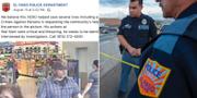 Skärmdump från polisens Facebook-inlägg t.v. Skärmdump från El Paso-polisens Facebooksida/TT