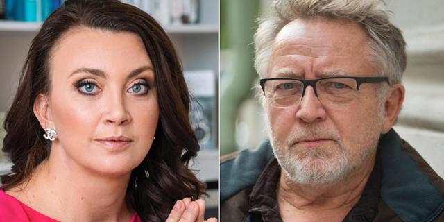 Camilla Läckberg och Ulf Lundell. Arkivbilder. TT