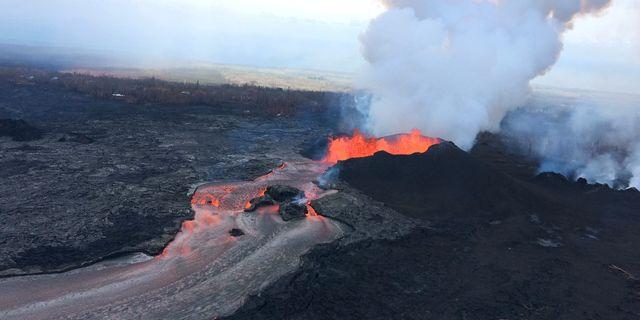 Vulkanen Kilauea på Hawaii.  Handout . / TT NYHETSBYRÅN