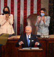 Joe Biden i kongressen.  Doug Mills / TT NYHETSBYRÅN