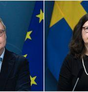 Skolverkets generaldirektör Peter Fredriksson och utbildningsminister Anna Ekström (S). TT